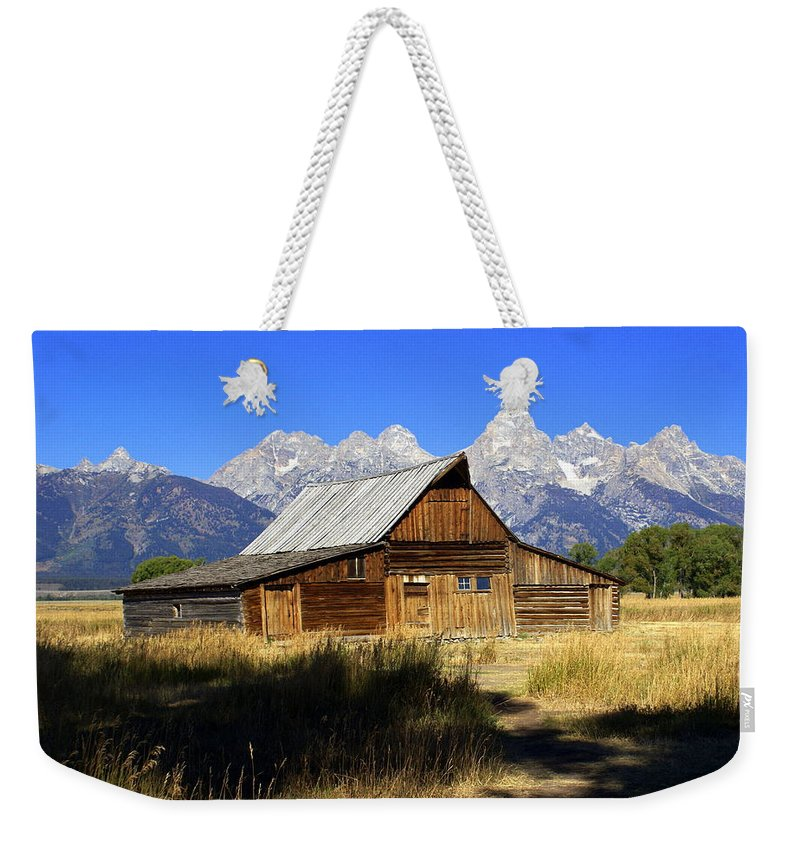 Barn Weekender Tote Bag featuring the photograph Mormon Row Barn 2 by Marty Koch