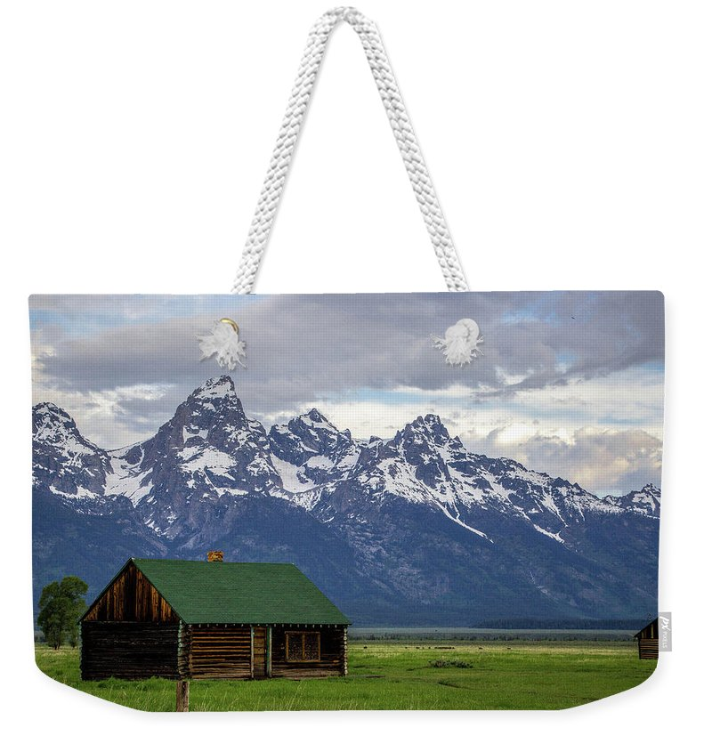 Mormon Row Weekender Tote Bag featuring the photograph Mormon Row Barn by Adriana Wolff