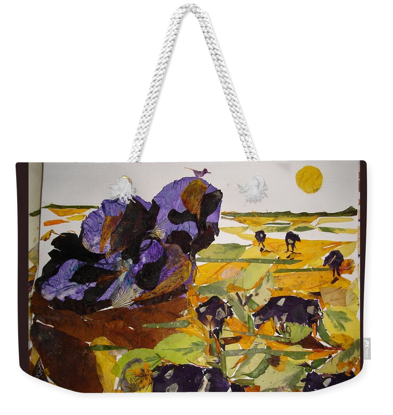 Glory Of Morning Weekender Tote Bag featuring the mixed media Morning Activities by Basant Soni