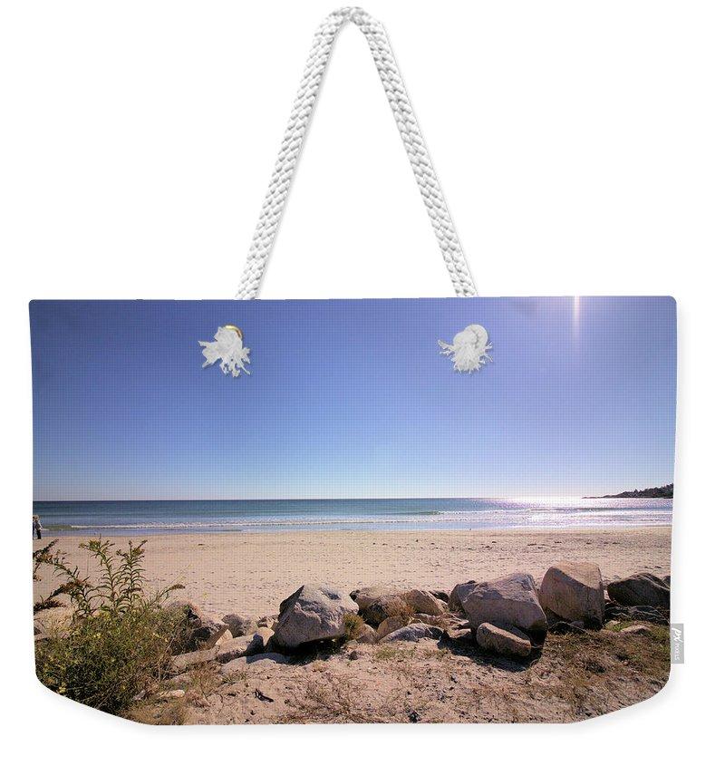 Beach Weekender Tote Bag featuring the photograph Morning At Qgunquit Beach 2. by Robert McCulloch