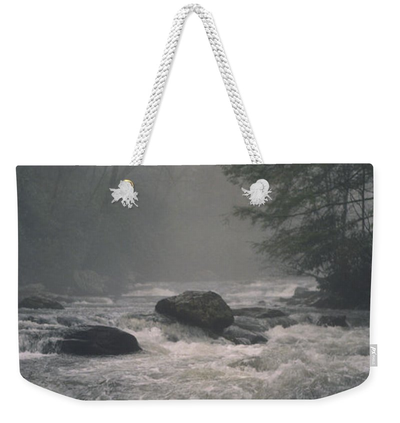 Rivers Weekender Tote Bag featuring the photograph Morning At The River by Richard Rizzo
