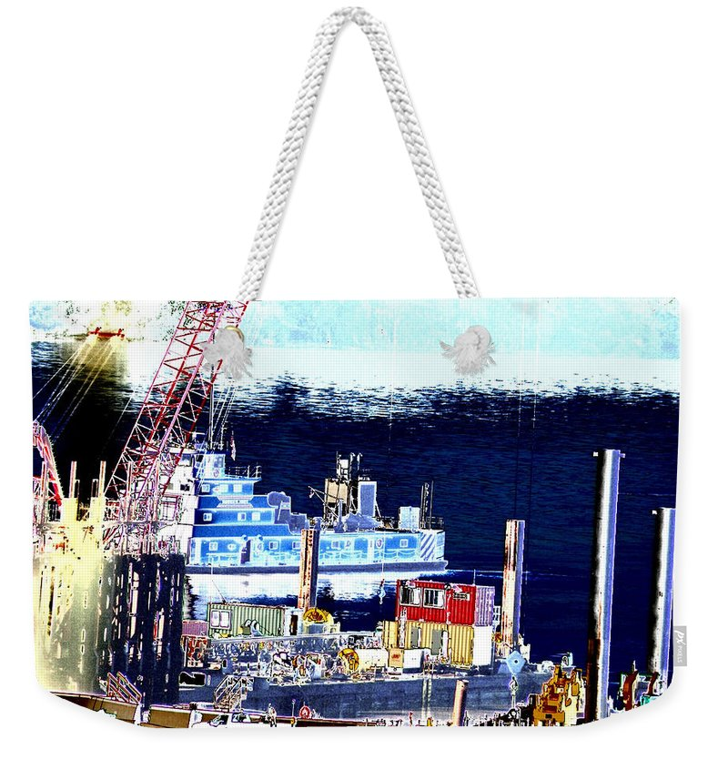 Abstract Weekender Tote Bag featuring the photograph Morning Blooms by Rachel Christine Nowicki