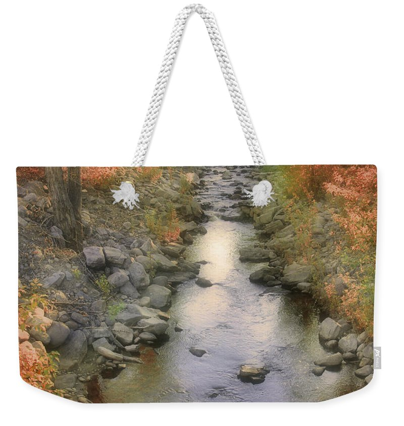 Creek Weekender Tote Bag featuring the photograph Morning By The Creek by Tara Turner