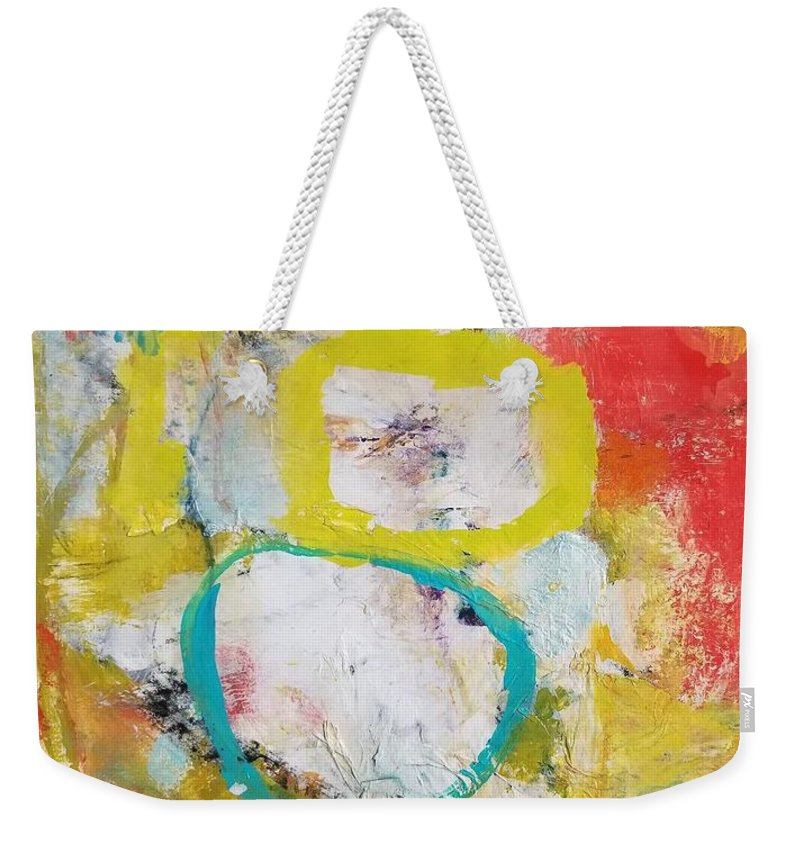 Abstract Weekender Tote Bag featuring the painting Morning Calm by Patricia Byron