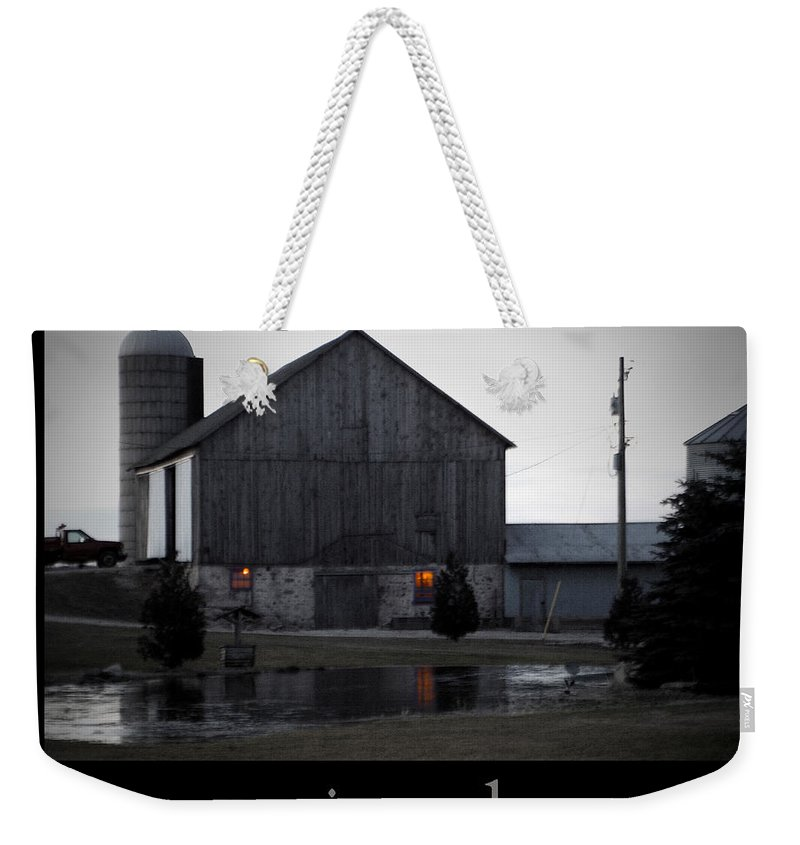 Poster Weekender Tote Bag featuring the photograph Morning Chores by Tim Nyberg
