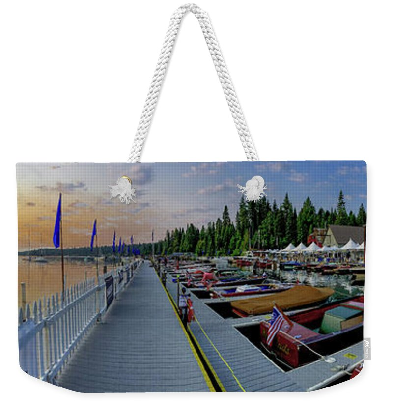 H2omark Weekender Tote Bag featuring the photograph Morning Colors by Steven Lapkin