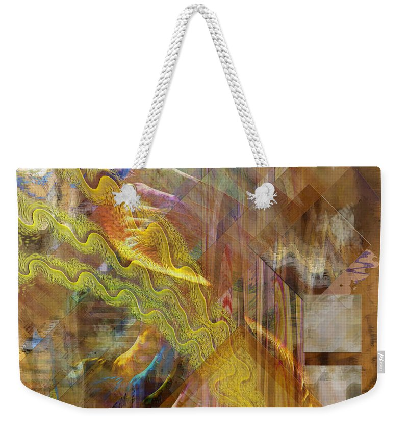 Morning Dance Weekender Tote Bag featuring the digital art Morning Dance by John Beck