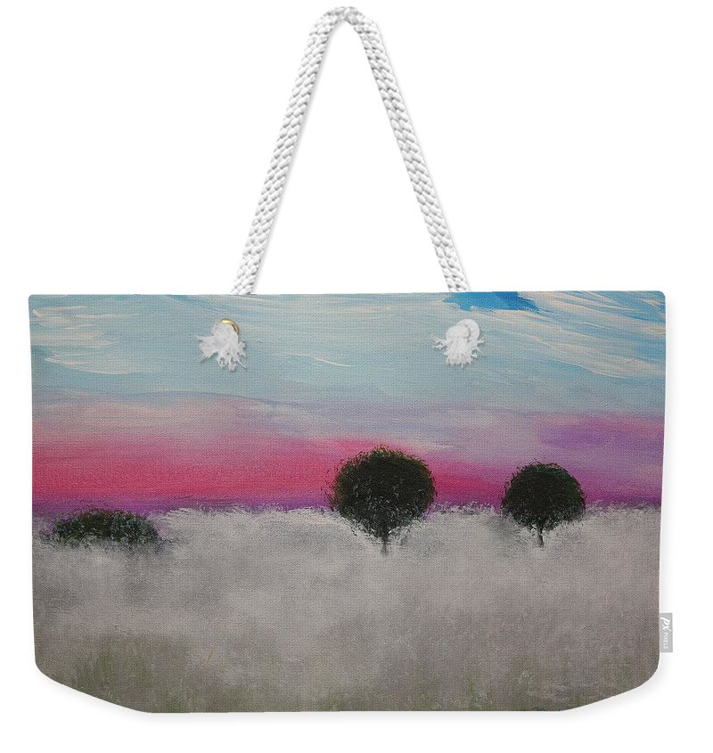 Impressionism Weekender Tote Bag featuring the painting Morning Dew And I'm Thinking Of You by J R Seymour