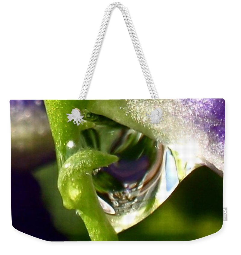 Morning Dew Weekender Tote Bag featuring the photograph Morning Dew by Rona Black