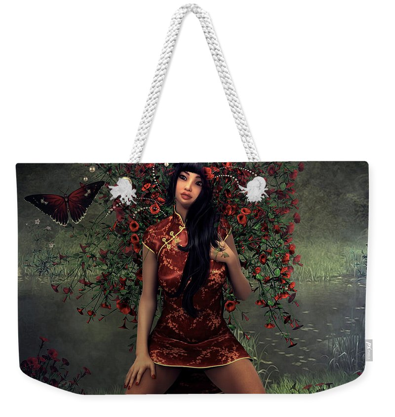 Morning Weekender Tote Bag featuring the mixed media Morning Floral by G Berry