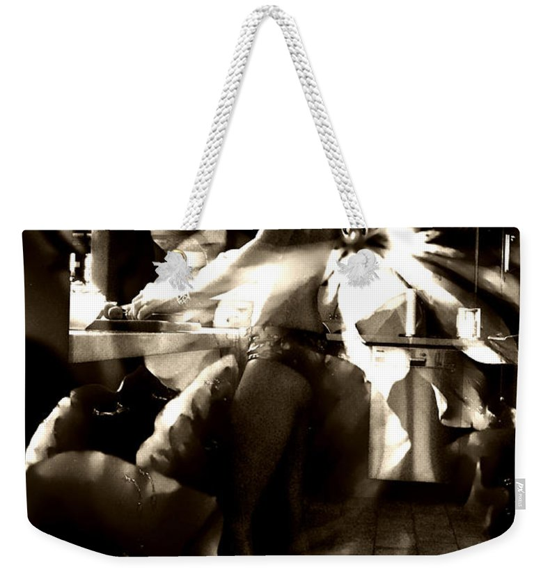 Clay Weekender Tote Bag featuring the photograph Morning Flower by Clayton Bruster