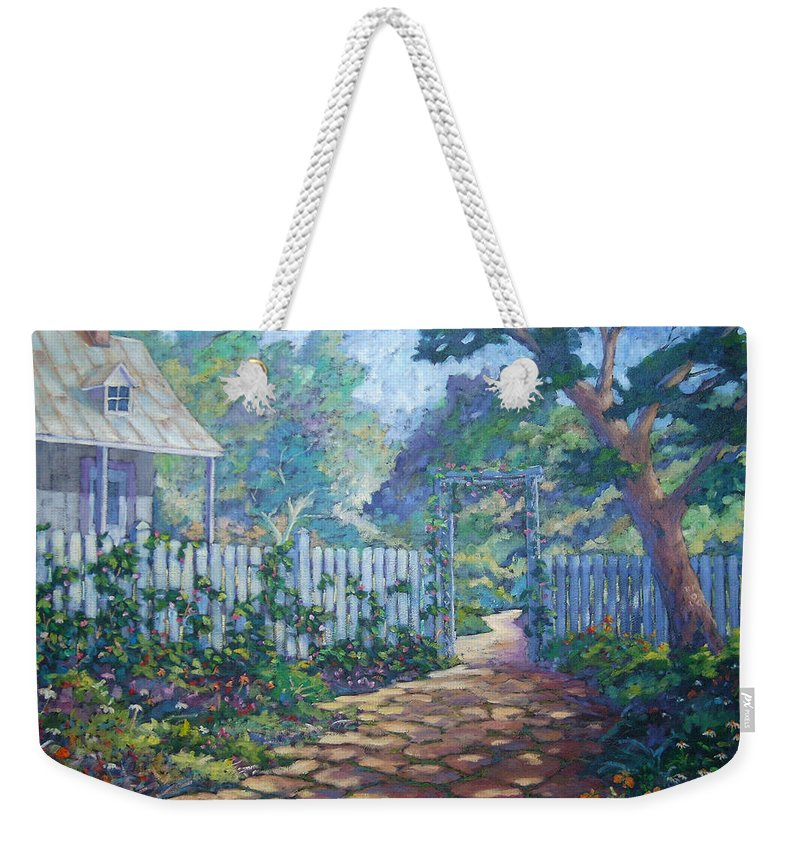 Painter Art Weekender Tote Bag featuring the painting Morning Glory by Richard T Pranke