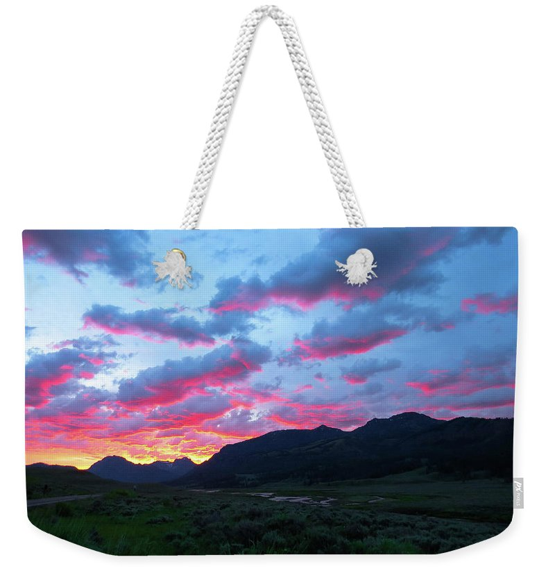 Sun Weekender Tote Bag featuring the photograph Morning Glow by Adriana Wolff