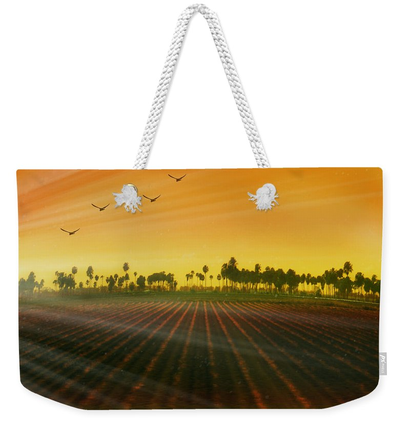 Landscape Weekender Tote Bag featuring the photograph Morning Has Broken by Holly Kempe