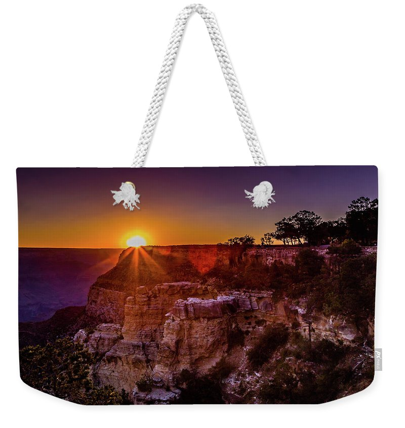 Grand Canyon Weekender Tote Bag featuring the photograph Morning Has Broken by Lisa Lemmons-Powers