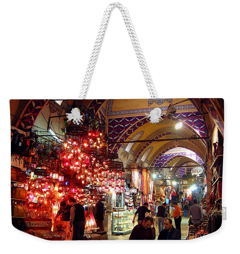 Grand Bazaar Weekender Tote Bag featuring the photograph Morning In The Grand Bazaar by Mike Reid