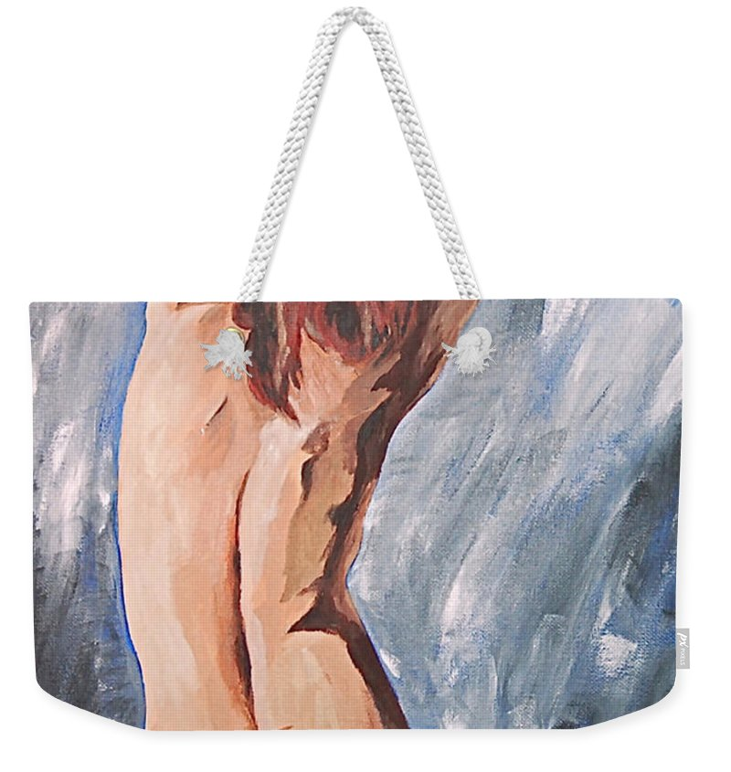 Nude Weekender Tote Bag featuring the painting Morning Light 2 by Herschel Fall