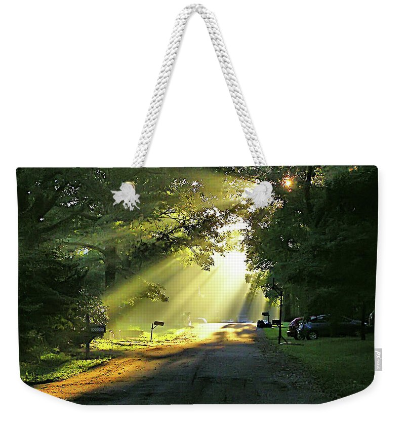 2d Weekender Tote Bag featuring the photograph Morning Light by Brian Wallace