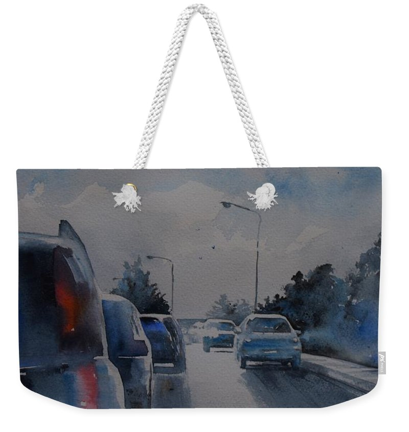 Cars Weekender Tote Bag featuring the painting Morning Light by Diane Agius