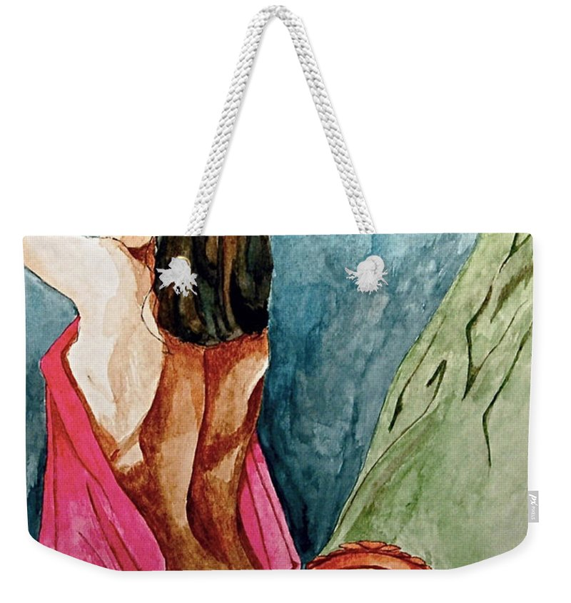 Nudes Women Weekender Tote Bag featuring the painting Morning Light by Herschel Fall