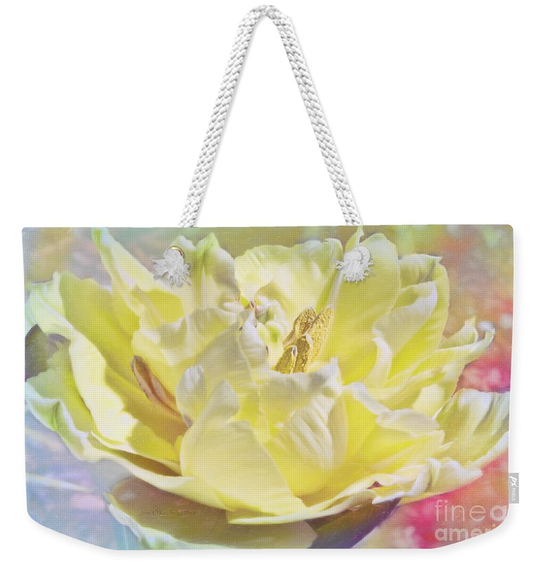 Spring Weekender Tote Bag featuring the photograph Morning Light by Jean OKeeffe Macro Abundance Art