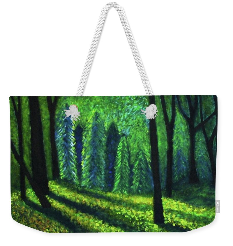 Acrylic Weekender Tote Bag featuring the painting Morning Light by John Scates