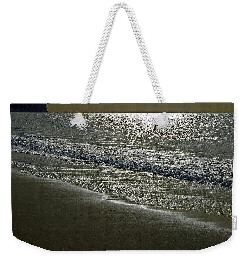 Sandown Weekender Tote Bag featuring the photograph Morning Light On Sandown Beach by Rod Johnson