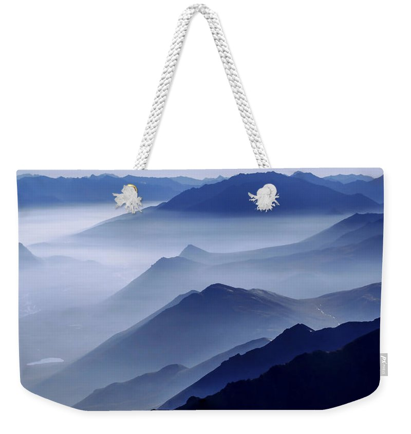 Morning Mist Weekender Tote Bag featuring the photograph Morning Mist by Chad Dutson