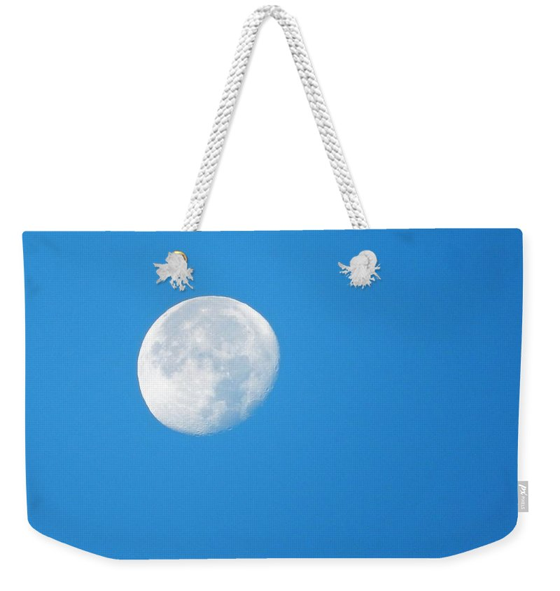 Moon Weekender Tote Bag featuring the photograph Morning Moon by Brian McGary