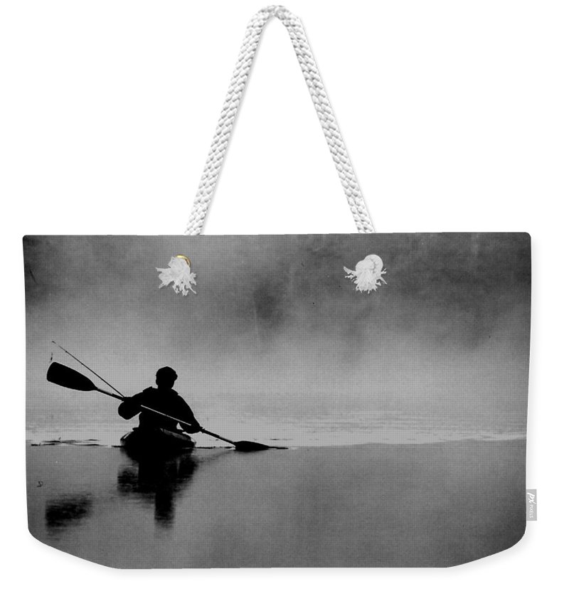 Nature Weekender Tote Bag featuring the photograph Morning Paddle by Lisa Kane
