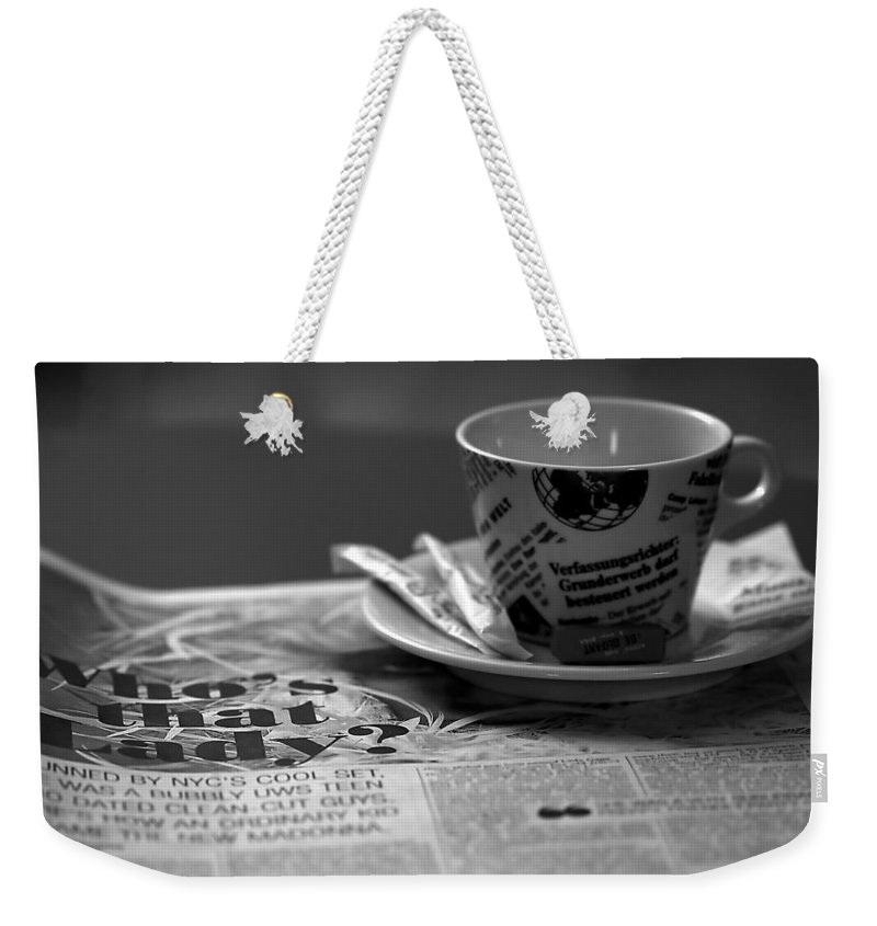 Blur Weekender Tote Bag featuring the photograph Morning Read by Evelina Kremsdorf