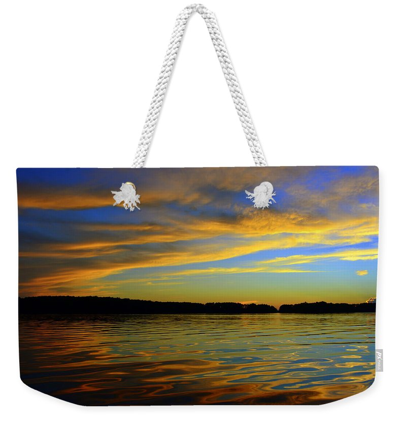 Morning Reflections Weekender Tote Bag featuring the photograph Morning Reflections by Lisa Wooten