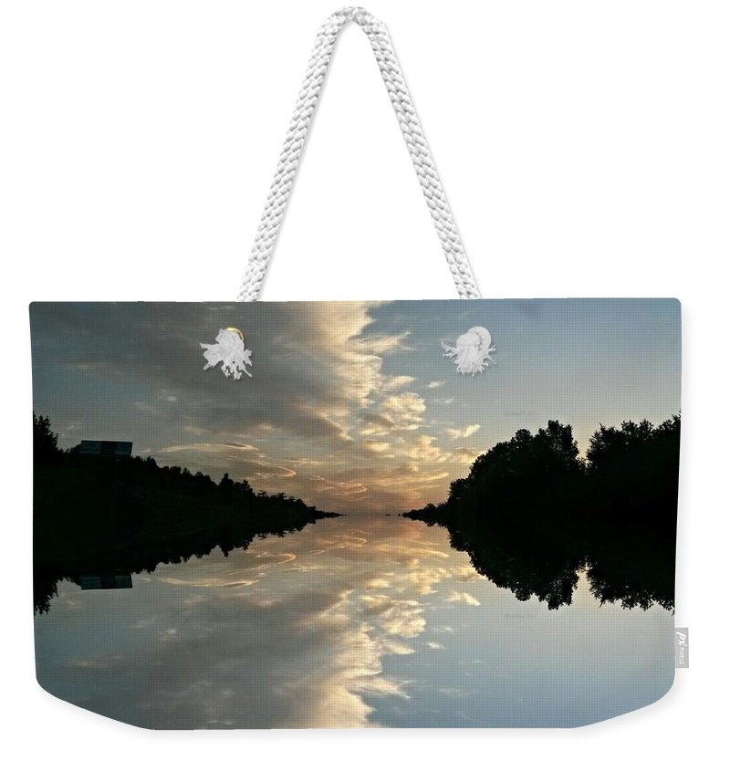 Morning Reflections Weekender Tote Bag featuring the photograph Morning Reflections by Maria Urso
