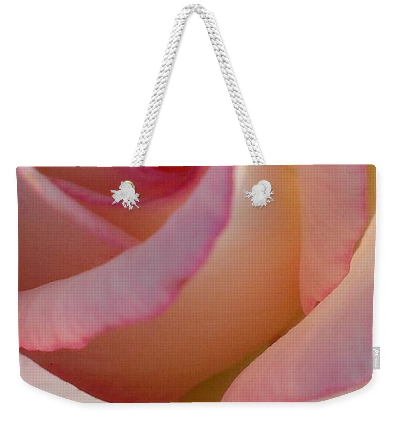 Rose Weekender Tote Bag featuring the photograph Morning Rose by LKB Art and Photography