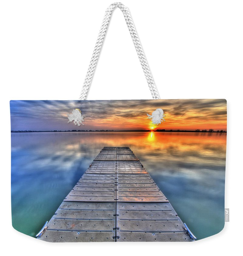 Dock Weekender Tote Bag featuring the photograph Morning Sky by Scott Mahon