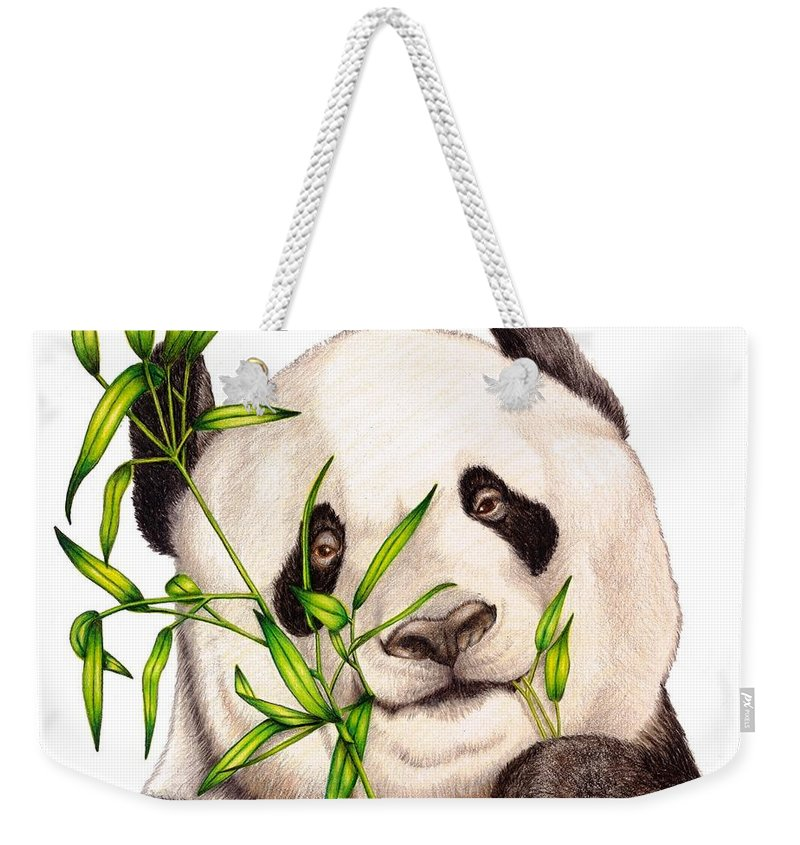 Portrait Weekender Tote Bag featuring the drawing Morning Snack by Sheryl Unwin