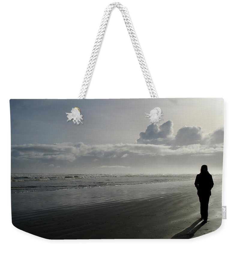 Beach Weekender Tote Bag featuring the photograph Morning Solitude by Brandy Herren