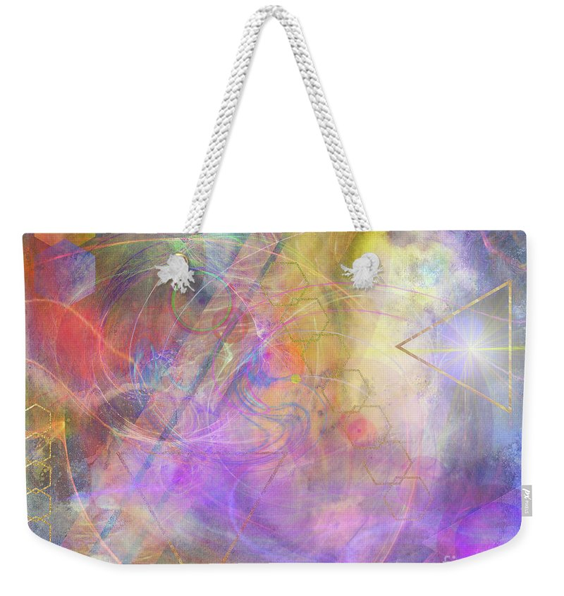 Morning Star Weekender Tote Bag featuring the digital art Morning Star by John Beck