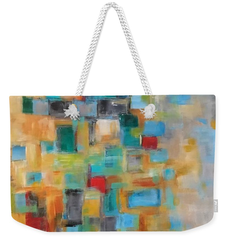 Acrylic Abstract Weekender Tote Bag featuring the painting Morning Sunrise #2 by Suzzanna Frank