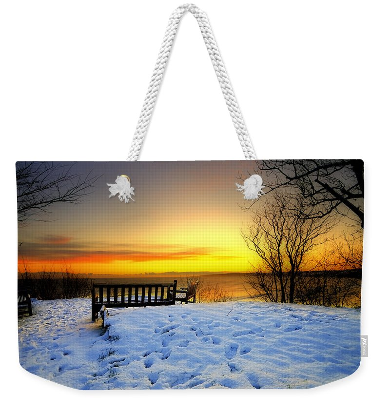 Morning Weekender Tote Bag featuring the photograph Morning Sunrise by Svetlana Sewell