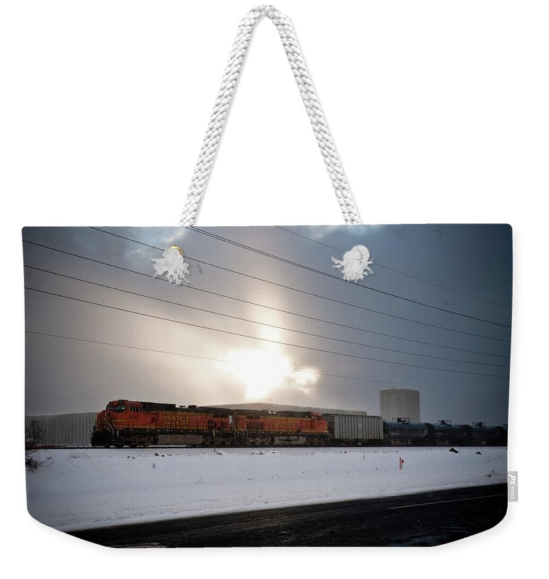 Seshat Weekender Tote Bag featuring the photograph Morning Train by Scott Sawyer
