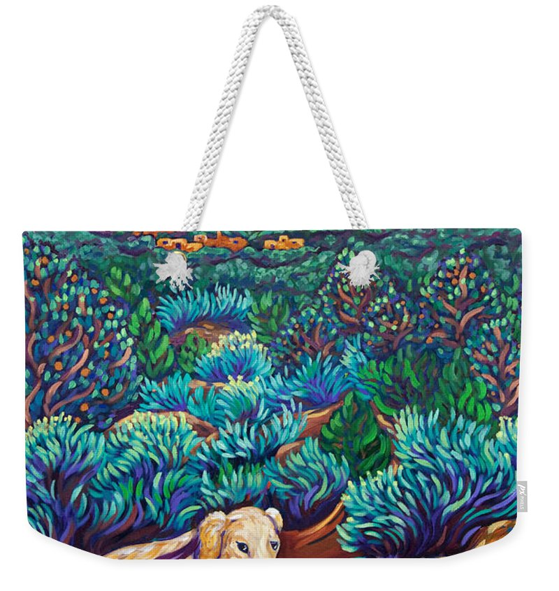 Dogs Weekender Tote Bag featuring the painting Morning Walk by Cathy Carey