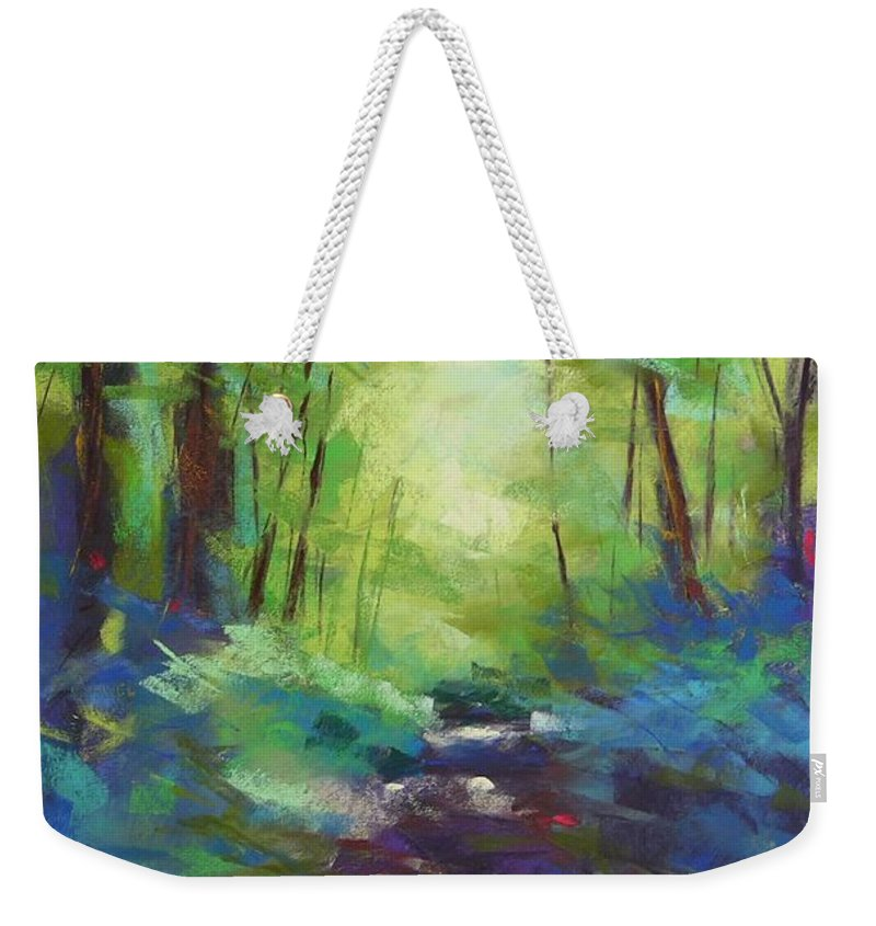 Pastel Weekender Tote Bag featuring the painting Morning Walk I by Mary McInnis