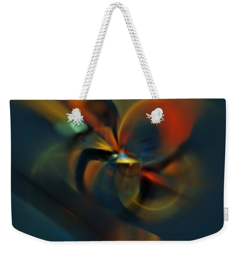 Digital Painting Weekender Tote Bag featuring the digital art Mornings Slippery Slope by David Lane