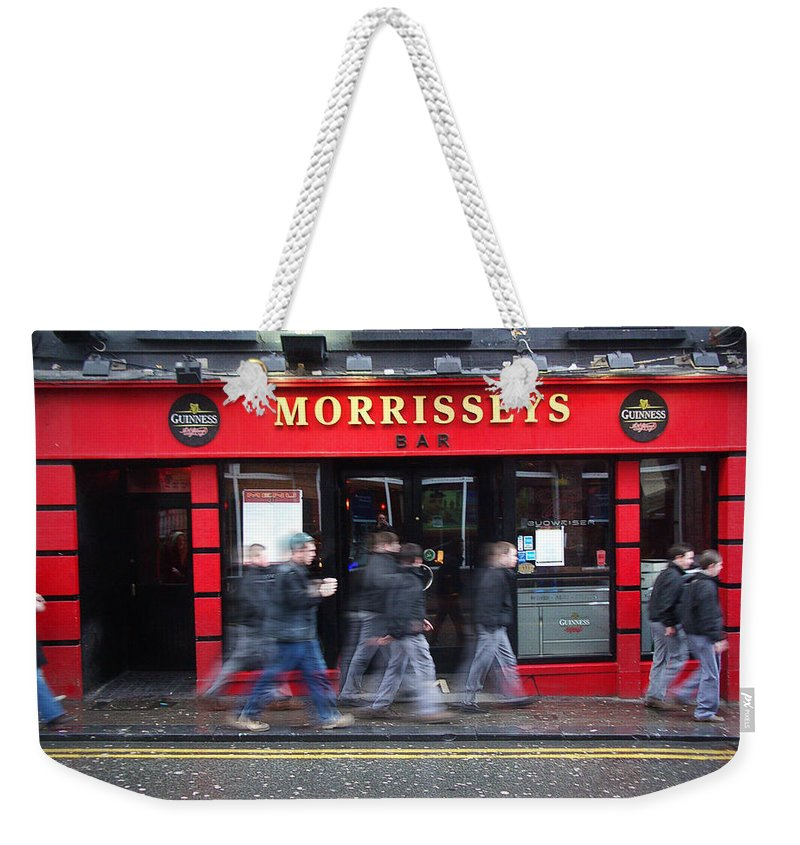 Pub Weekender Tote Bag featuring the photograph Morrissey by Tim Nyberg