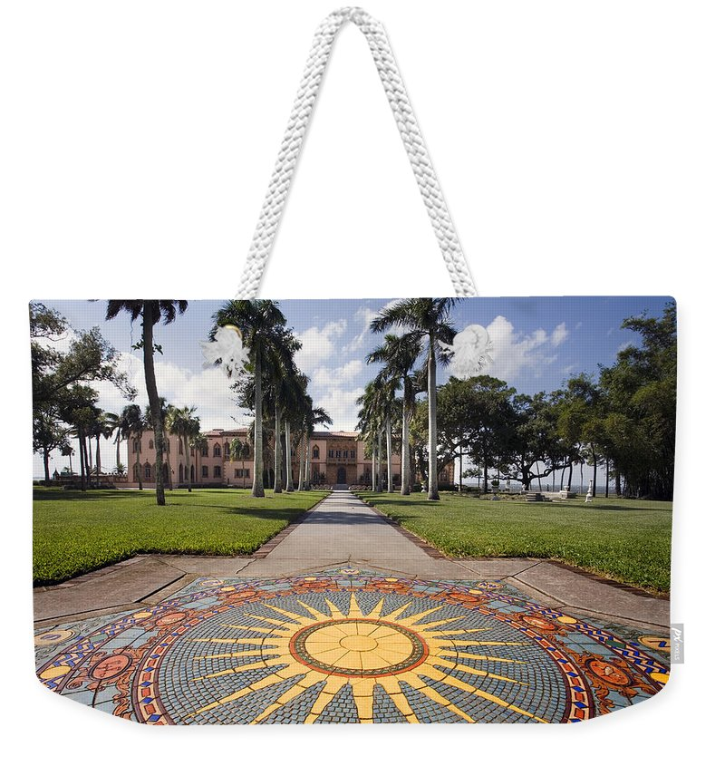 Mosaic Weekender Tote Bag featuring the photograph Mosaic At The Ca D by Mal Bray