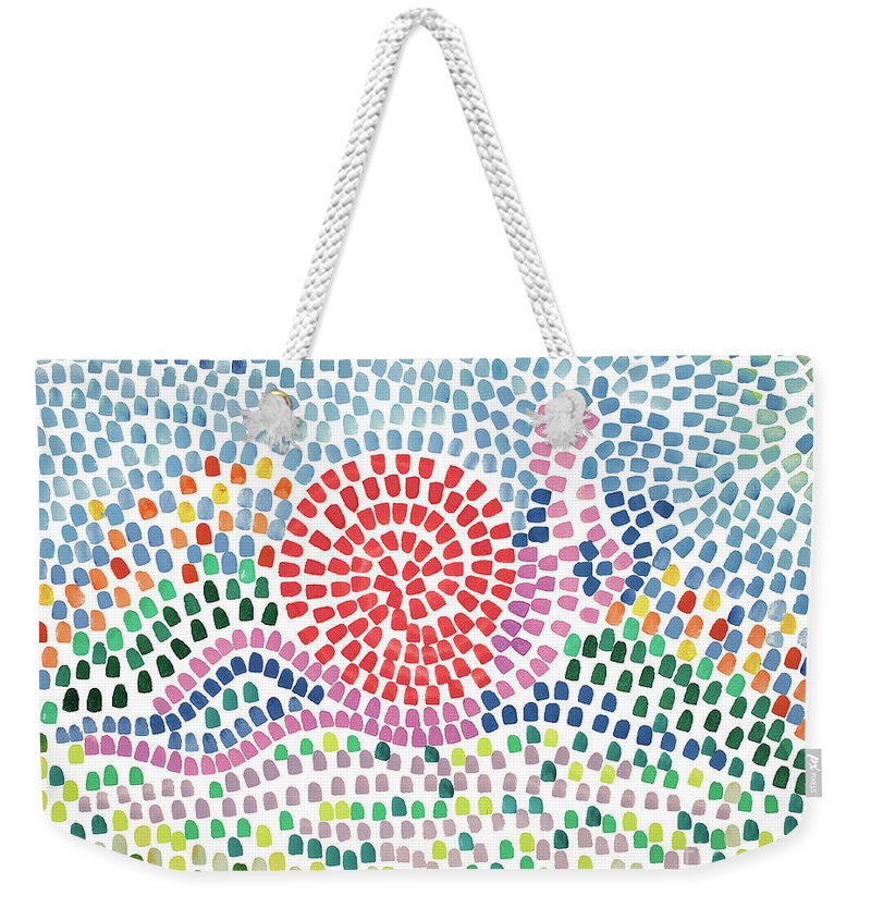 Mosaic Weekender Tote Bag featuring the painting Mosaic by Bjorn Sjogren