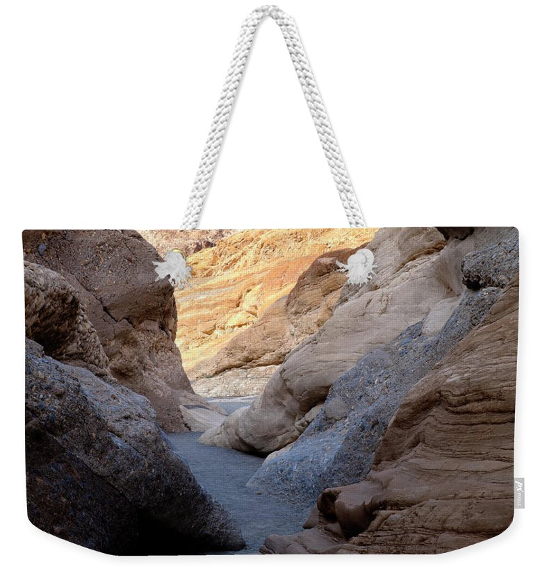 Mosaic Canyon Weekender Tote Bag featuring the photograph Mosaic Canyon by Kelley King