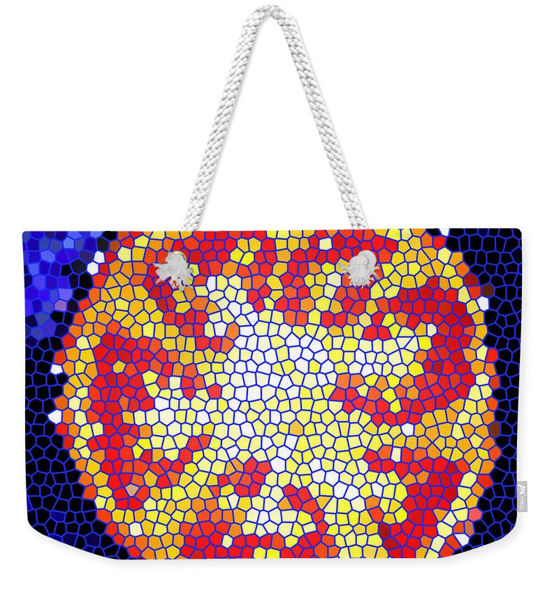 Tomato Weekender Tote Bag featuring the photograph Mosaic Tomato by Nancy Mueller