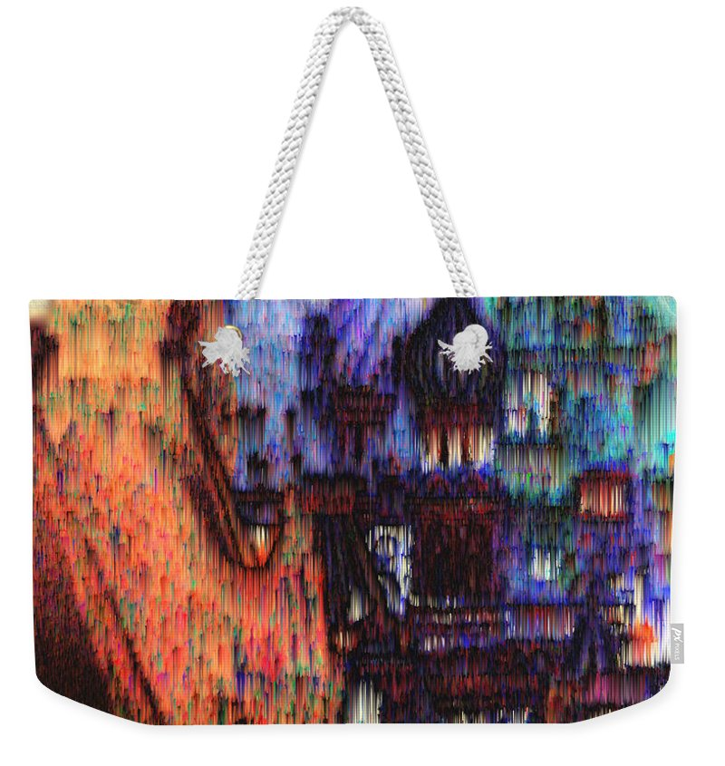 Fog Weekender Tote Bag featuring the digital art Moscow in the Rain by Seth Weaver